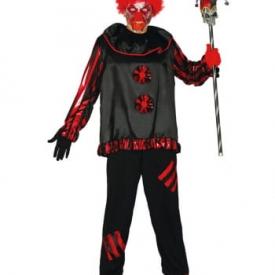 Schwarzer Psycho Clown Kostüm