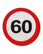 60 Verkehrsschild Serviette