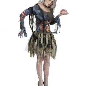 Sexy 3D-Zombiekostüm für Frauen