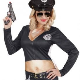 Sexy Cop-Lady Kostümshirt