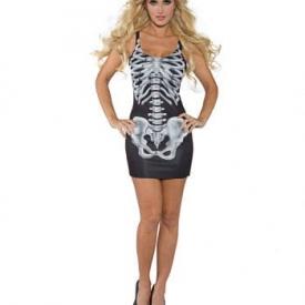 Minikleid Skelett