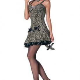 Sexy Leoparden Mini-Kleid