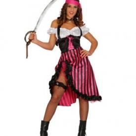 Pinkes Piratin Kostüm