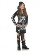 Skelett Minikleid für Mädchen