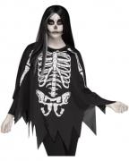 Skelett Kostüm-Poncho