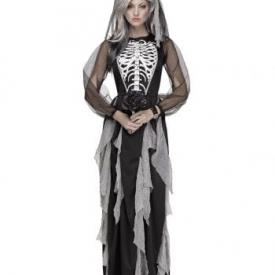 Geisterbraut Skelett Frauenkostüm