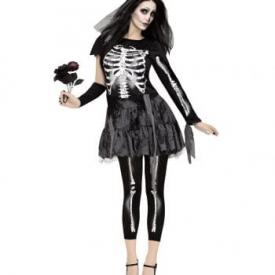 Skelett Brautkleid mit Schleier