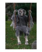 Geister Skelett auf der Schaukel