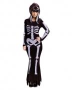 Skelettkleid Kostüm ML