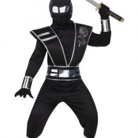 Kinder Ninja Kostüm mit Spiegel Effekt