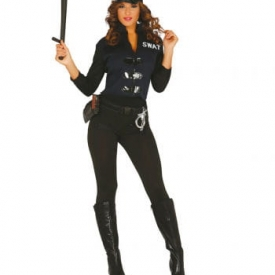 SWAT Agentin Damenkostüm