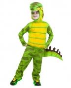 Grünes Kinderkostüm T-Rex Dinosaurier