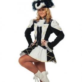 Tanzmariechen Damenkostüm schwarz-weiß