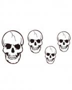 4 Halloween Totenschädel aus Karton