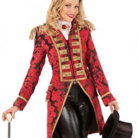 Rot-goldener venezianischer Damenfrack
