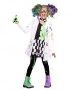 Crazy Wissenschaftlerin Mädchenkostüm