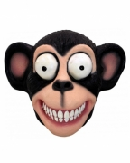 Latex Maske verrückter Schimpanse