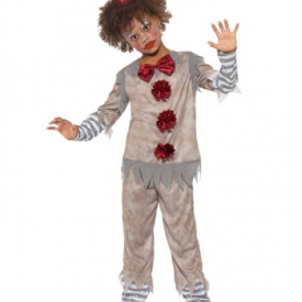 Vintage Killer Clown Jungen Kostüm