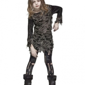 Walking Zombie Kostüm für Kinder L