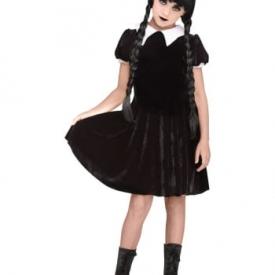Wednesday Gothic Mädchen Kostüm