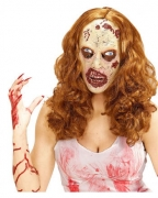 Weiblicher Zombie Maske mit Locken