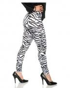80s Zebra Leggings Weiß