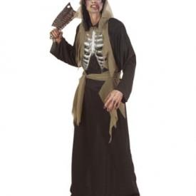 Zombie Skelett Kostüm L