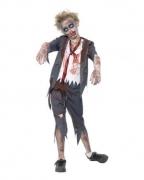 Zombie Schuluniform Jungenkostüm